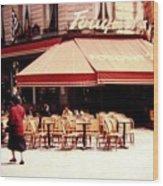 Fouquets Of Paris 1955 Wood Print