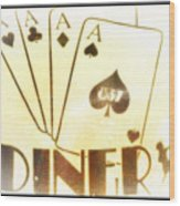 Four Aces Diner Wood Print
