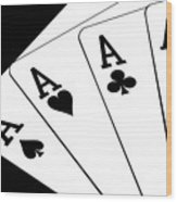 Four Aces I Wood Print