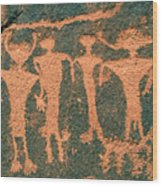Four Anasazi Wood Print
