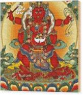 Four Armed Dzambhala Wood Print