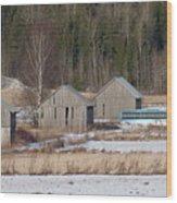 Four Barns Wood Print