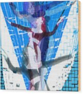 Four Blue Angels Wood Print