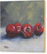 Four Cherries Wood Print