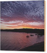 Four Elements Sunset Sequence 1 Coconuts Qld  Wood Print