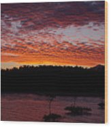 Four Elements Sunset Sequence 2 Coconuts Qld Wood Print