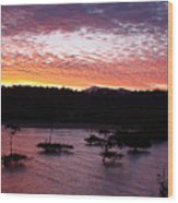 Four Elements Sunset Sequence 3 Coconuts Qld Wood Print