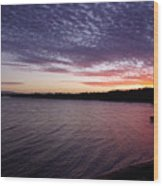 Four Elements Sunset Sequence 4 Coconuts Qld  Wood Print