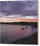 Four Elements Sunset Sequence 6 Coconuts Qld  Wood Print