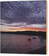 Four Elements Sunset Sequence 7 Coconuts Qld  Wood Print