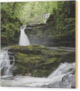 Four Falls Walk Waterfall 5 Wood Print