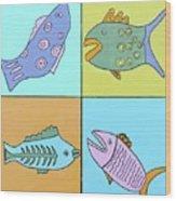 Four Fish Wood Print