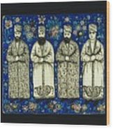 four grandees associated with the court of Nasir al-Din Shah Wood Print