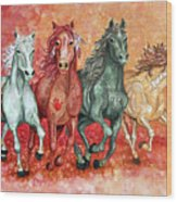 Four Horses Of The Apocalypse Wood Print