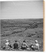 Four Ladies On A Hill Wood Print by Meirion Matthias