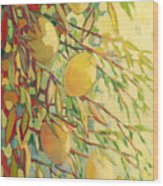 Four Lemons Wood Print by Jennifer Lommers