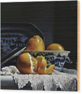 Four Lemons With Canton Wood Print
