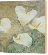 Four Lilies Wood Print
