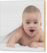 Four Month Old Baby Boy Wood Print