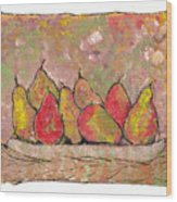 Four Pair Of Pears Wood Print
