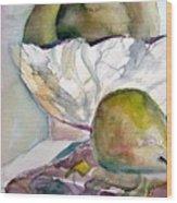 Four Pears Wood Print