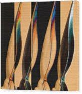 Four Pen Nibs Wood Print by Carol Leigh