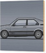 Four Rings Coupe Gt B2 Stone Grey Metallic Wood Print