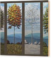 Four Seasons Wood Print