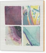 Four Squares Pastelisa Wood Print