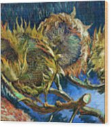 Four Sunflowers Gone To Seed, By Vincent Van Gogh, 1887, Kroller Wood Print