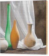Four Vases II Wood Print by Tom Mc Nemar