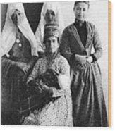 Four Women From Bethlehem Wood Print