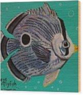 Foureye Butterflyfish Wood Print