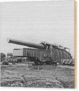Fourteen Inch Gun Wood Print