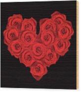 Fourteen Roses Wood Print by Wim Lanclus