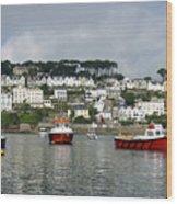 Fowey Harbor Cornwall Wood Print
