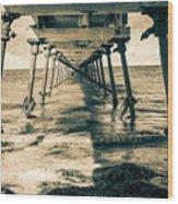 Fowlers Bay Jetty Wood Print