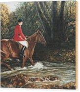 Fox Hunt Wood Print