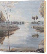 Fox Lake Wood Print