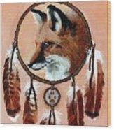Fox Medicine Wheel Wood Print