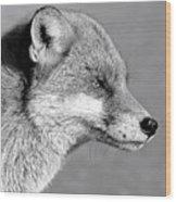 Fox - Mono Wood Print