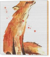 Fox Painting - Print From Original Wood Print by Alison Fennell