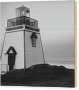 Fox Point Lighthouse Wood Print