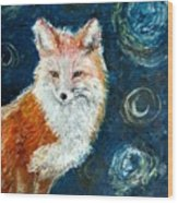 Fox Red  Painting  Wood Print