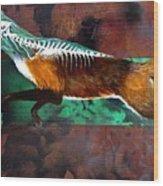 Fox Run Wood Print