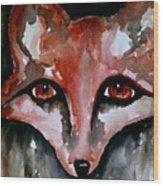 Fox Shadow Magic Wood Print