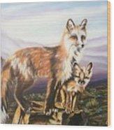 Foxes   Fundamental Foresight Foundation  Wood Print