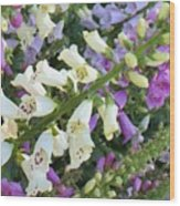 Foxglove Fancy Wood Print