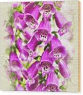Foxglove Flowers Blank Note Card Wood Print