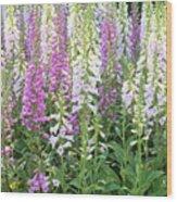 Foxglove Garden - Vertical Wood Print